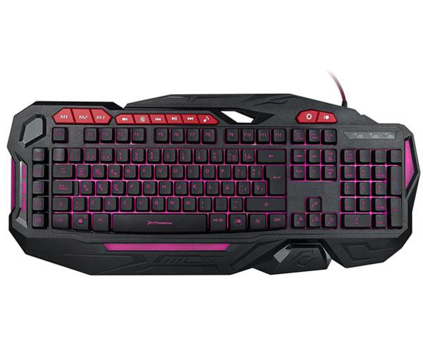TECLADO GAMING MULTIMEDIA USB PHOENIX FACTOR KEY - 3 COLORES LED - PROGRAMABLE