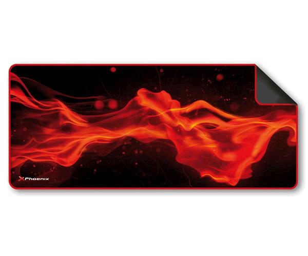 Alfombrilla gaming phoenix factorpad xl negra-roja 900x300x3mm - antideslizante