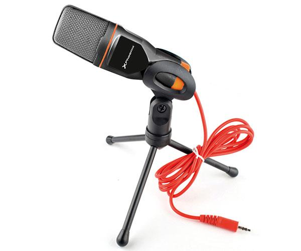 MICROFONO MULTIMEDIA PHOENIX PODCASTSTUDIO - JACK 3.5MM - TRIPODE -