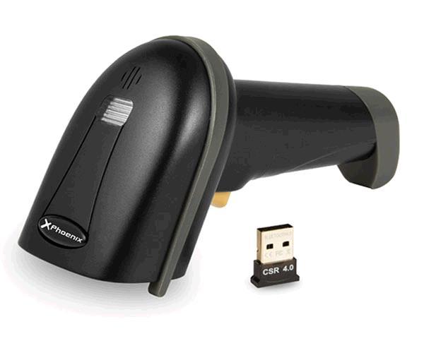 Lector codigo de barras laser Bluetooth + cable USB - Negro - 1d - Phoenix Phscanbarcodebt