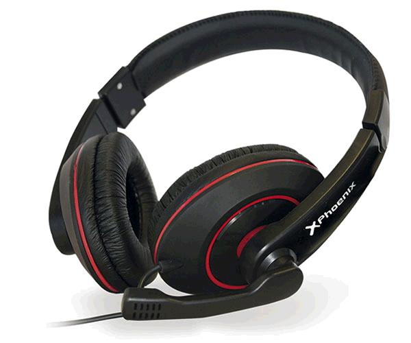AURICULARES CON MICRO GAMING PHOENIX TALK AND PLAY NEGRO-ROJO