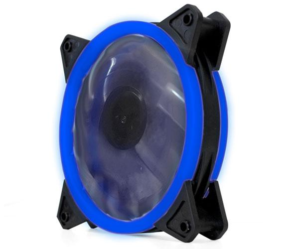 Ventilador gaming doble LED azul phoenix 12cm - 3 a 4 pines - silencioso - 1200 rpm