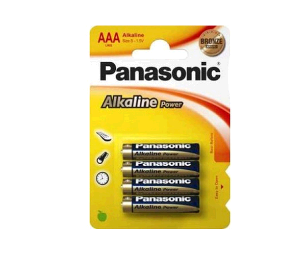 PILAS PANASONIC ALCALINAS LR03 AAA  1.5V (4 UNID.)