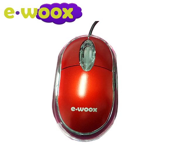 RATON E-WOOX USB POP ROJO