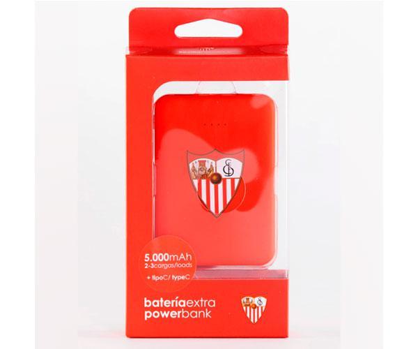 Powerbank 5000 mAh  tipo C   Sevilla FC con licencia