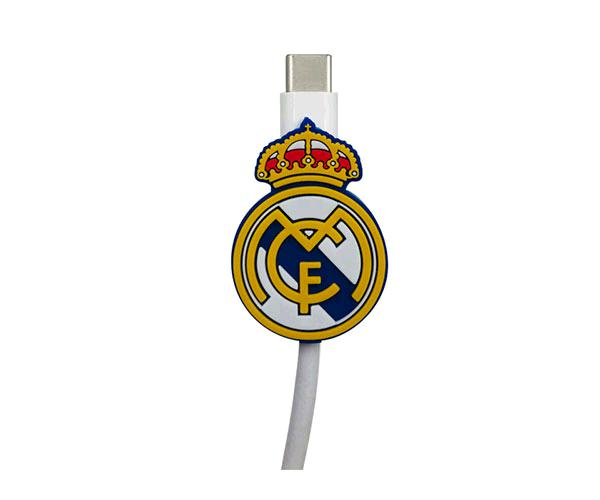 Protector de cables Escudo Real Madrid con licencia