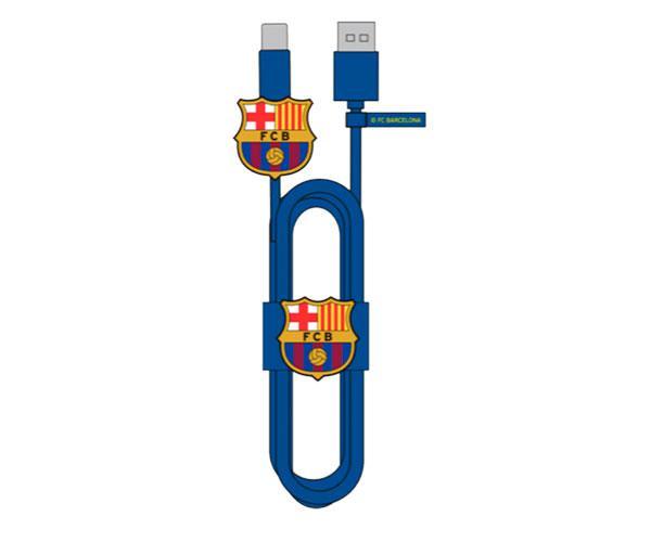 Set cable de datos Tipo C+Protector+Organizador  F.C Barcelona con licencia