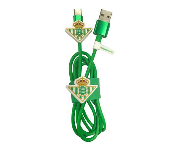 Set cable de datos Tipo C+Protector+Organizador Real Betis con licencia