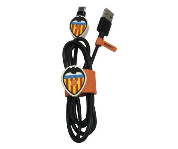 Set cable de datos Tipo C+Protector+Organizador Valencia C.F con licencia