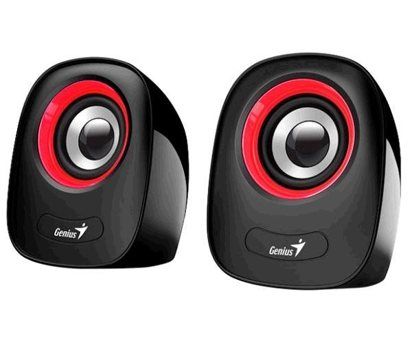 Altavoces 2.0 multimedia estéreo Genius SP-Q160 - Usb - 6w - Rojo