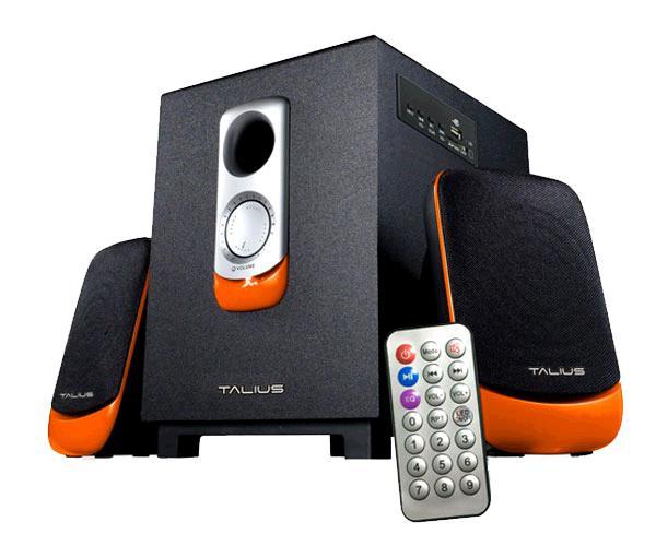 Altavoz 2.1 Talius spk-2101bt - 11w - Bluetooth - USB - sd - FM - aux - naranja