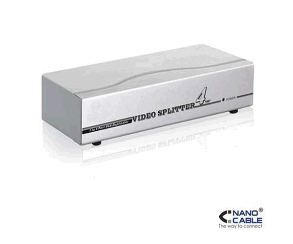 Splitter VGA 4 monitores x 1 pc con alimentacion Nanocable 10.25.0004