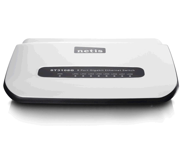 Switch netis 8 puertos Gigabits 10-100-1000 mbps