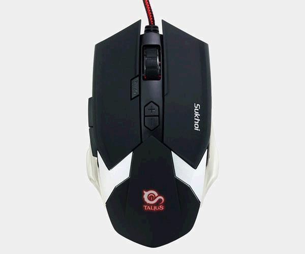 Raton gaming Talius sukhoi - 2500 dpi - 8 botones - negro