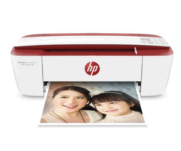 Impresora multifuncion Hp deskjet 3764 - Wifi - 19ppm -  blanca-roja