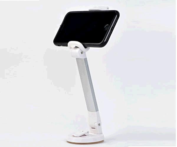 """Soporte de escritorio universal Smartphones Gembird Gris espacial metalico - Hasta 6"""" - Ancho hasta 85mm"""