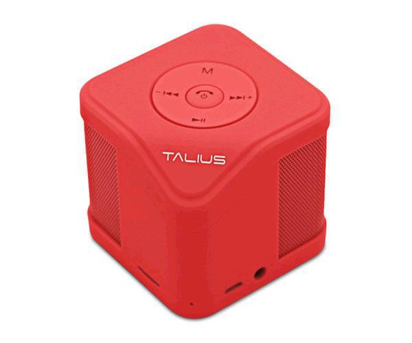 ALTAVOZ TALIUS CUBE - 3W - BLUETOOTH - FM - SD - ROJO