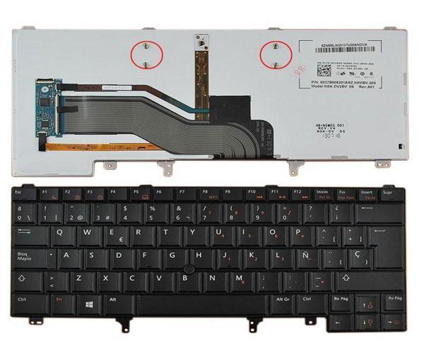 Teclado Dell latitude e6420 - e5420 - e6320 - 6430 - Poinstick - negro