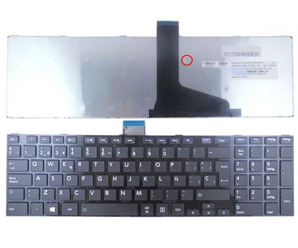 Teclado Toshiba l850 - l855 - l870 - p850 negro con marco