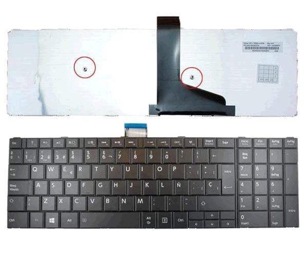 Teclado Toshiba Satellite S50 - S50-a - C75d - C75d-a - Negro - Sin marco