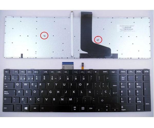 Teclado Toshiba Satellite S50 - S50-A - S50D - S50T - S55 - S55D - Retroiluminado con marco