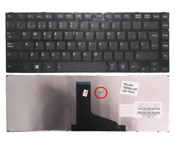 Teclado Toshiba Satellite L800 - L830 - L840 Negro - Con marco