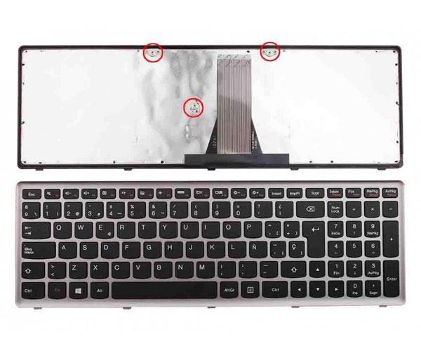 Teclado Lenovo IdeaPad g500s - g505s - s500 - s510p - z510 - Marco plata - negro