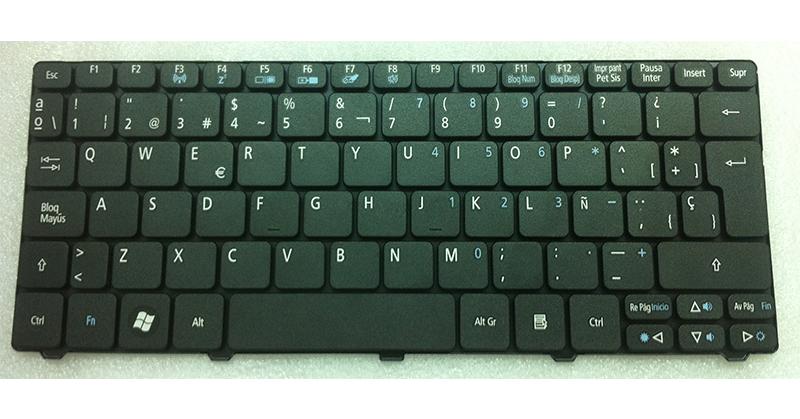 Teclado Acer Aspire one d260 - 532h - d255 negro