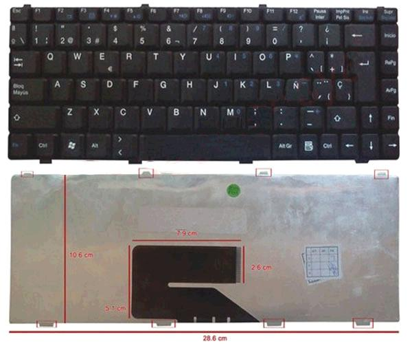 TECLADO FUJITSU V2030 - V2033 - MSI 260 - 270 NEGRO