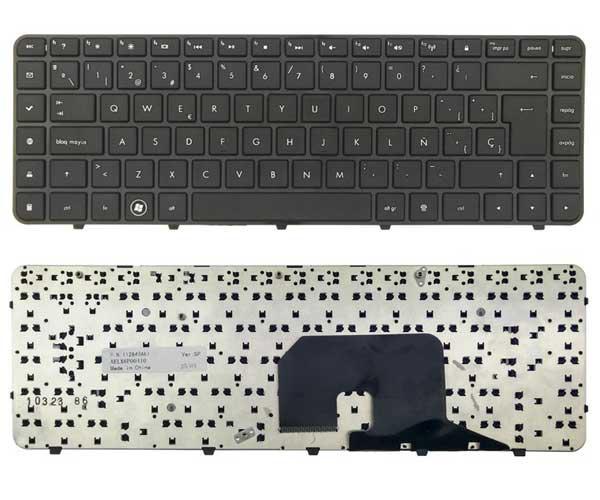 Teclado Hp dv6-3000 con marco negro
