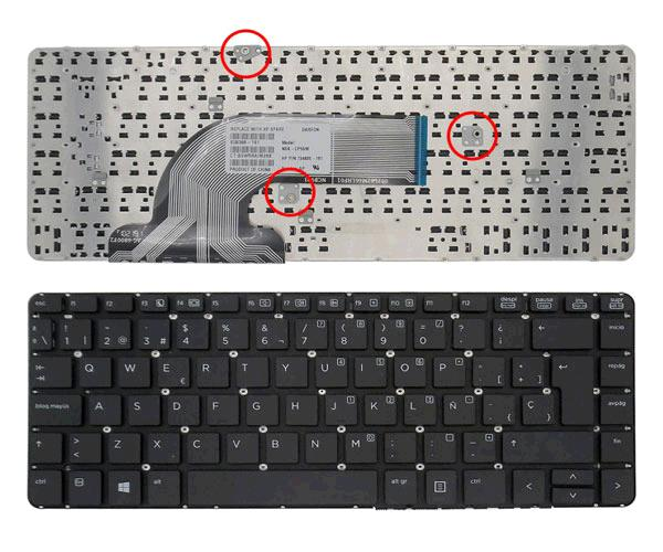 Teclado Hp Probook 430 G2 - 440 G1 - 445 G1 - 640 G1 - negro sin marco