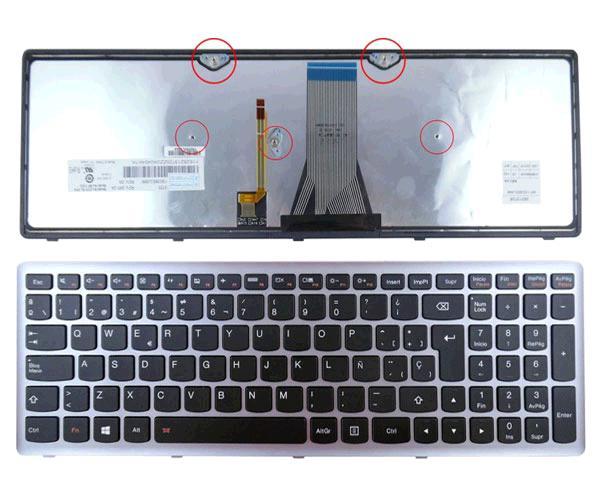 TECLADO LENOVO IDEAPAD RETROILUMINADO G500S - G505S - S500 - S510P - Z510 NEGRO