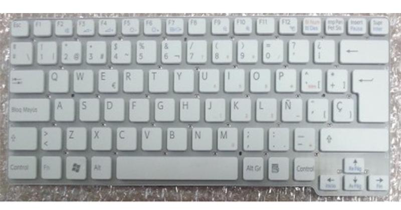 Teclado Sony vpc-cw series blanco