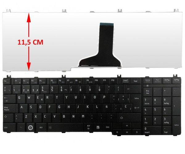 Teclado Toshiba c650-l670-l755-c660-l660-l655-l750 negro