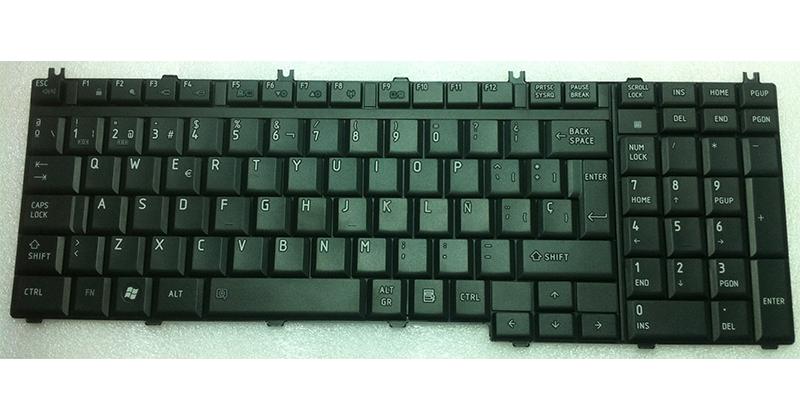 TECLADO TOSHIBA P200 - P300 - A500 - L505 - L350 - L550 NEGRO