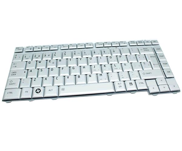 TECLADO TOSHIBA A200-M200-L200-QOSMIO-F40  PLATA