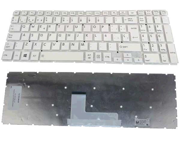 Teclado Toshiba Satellite l50-b blanco sin marco