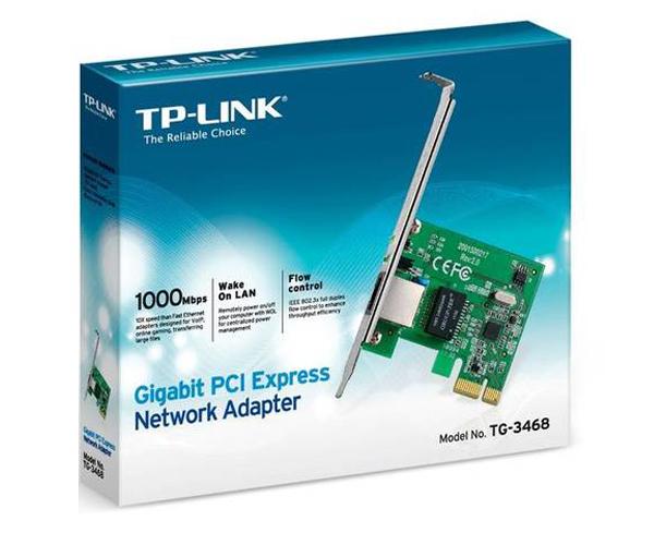 TARJETA DE RED TP-LINK GIGABIT PCI EXPRESS  TG-3468 - PERFIL BAJO
