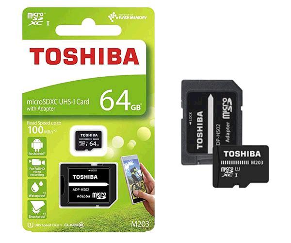 Micro Sd Hc Toshiba M203 64Gb - clase 10 - Uhs-i - 100mb-s con adaptador Sd