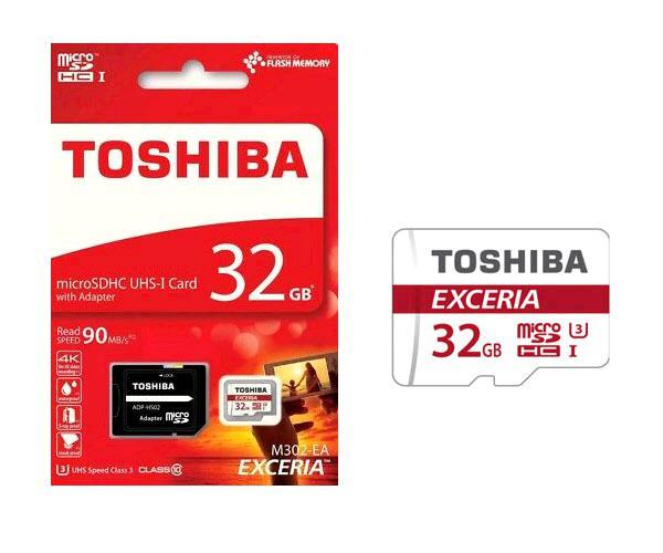 Micro Sd Hc Toshiba Exceria 32Gb - clase 10 - Uhs-i - 90mb-s con adaptador Sd