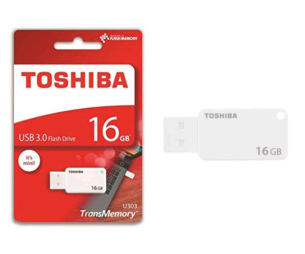 PENDRIVE MINI TOSHIBA 16GB USB 3.0  U303 AKATSUKI BLANCO