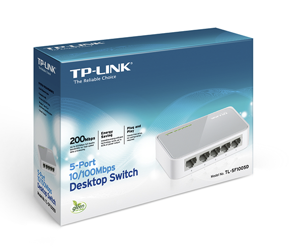 TP-Link switch 5p 10-100 Mini desktop - Tl-sf1005d