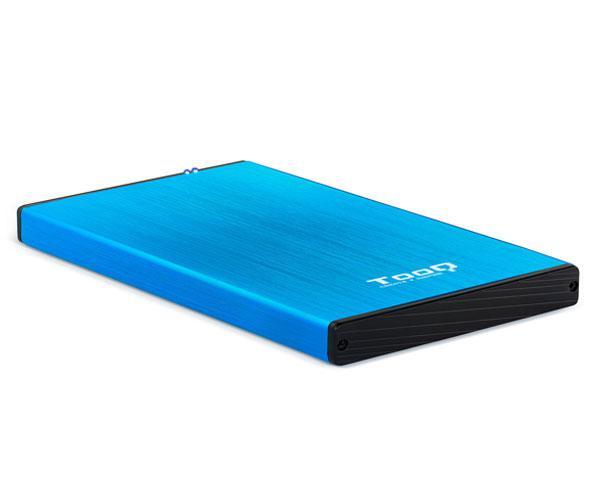 Caja externa aluminio 2.5 USB 3.0 sata tooq Azul 9.5mm tqe-2527bl