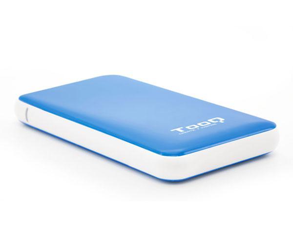 Caja externa 2.5 USB 3.1 gen1 sata tooq - azul - 9.5mm - tqe-2528bl
