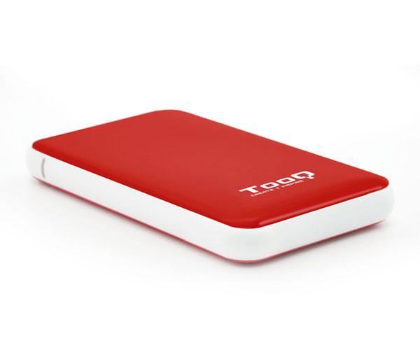 Caja externa 2.5 USB 3.1 gen1 sata tooq - rojo - 9.5mm - tqe-2528r