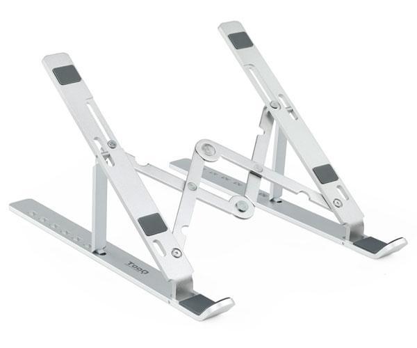 Soporte Elevador aluminio plegable Tooq Tqlr0033-al para portatiles - Tablets - Smartphones