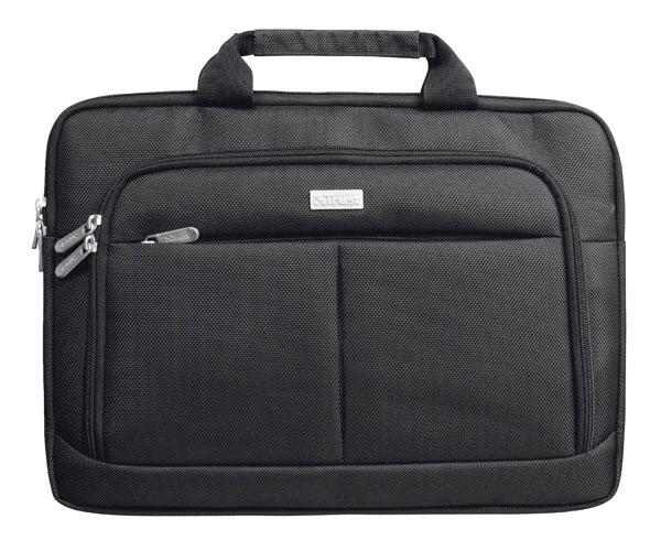 Maletin Trust Sidney negro - hasta 14 pulg. - 2 Compartimentos delanteros - Impermeable