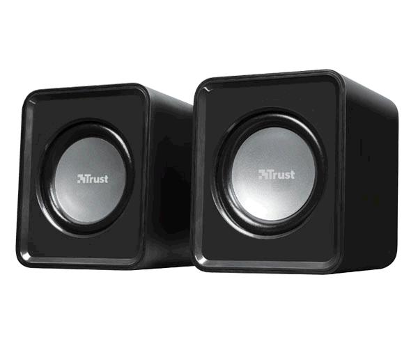 Altavoces Trust 2.0 Leto - Usb - 6w-3w Rms - Tamaño compacto - Control de volumen - Negro