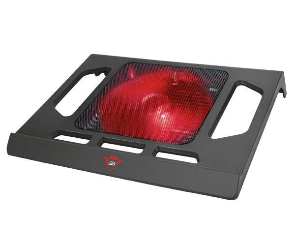 Base refrigeradora Gaming Trust Kuzo Gxt 220 - hasta 17.3 pulg.- Fan Silencioso - Led Rojo