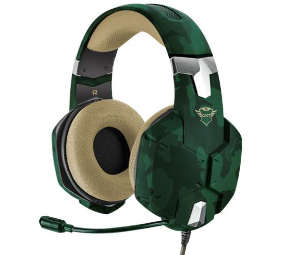 Auriculares Trust gaming gxt 322 Carus Jungle Camo - sonido potente - pc - ps4 - Xbox one - Nintendo